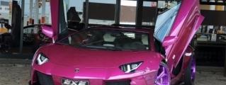 Violet Liberty Walk Lamborghini Aventador by EXE
