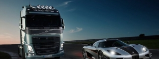 Volvo FH vs Koenigsegg One:1 - The Race