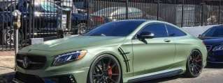 Wald Mercedes S63 Coupe in Matte Green