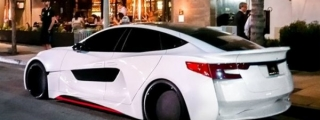 Will.I.Am's Custom Tesla Spotted in Beverly Hills