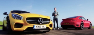 Mercedes AMG GT S vs Porsche 911 Turbo at Anglesey