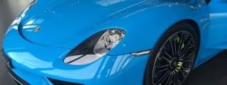 Baby Blue Porsche 918 Is Sweeeeet!