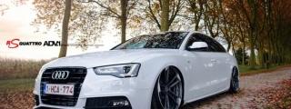 Bagged Audi A5 on ADV1 Wheels