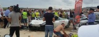 Paul Bailey Crashes into Crowd in Porsche 918 - 26 injured