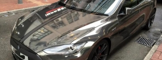 Black Chrome Tesla Model S by Impressive Wrap