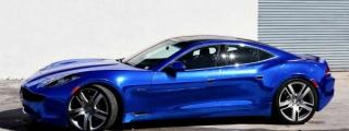 Blue Chrome Fisker Karma by Metro Wrapz