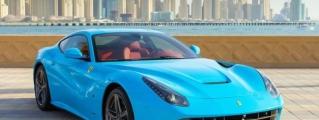 Gallery: Baby Blue Ferrari F12 in Dubai