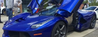 Blue LaFerrari Shows Up at High School Car Show