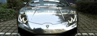Chrome-Wrapped Lamborghini Huracan by Print Tech
