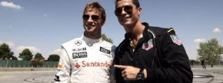 Cristiano Ronaldo Races a McLaren P1 against Jenson Button