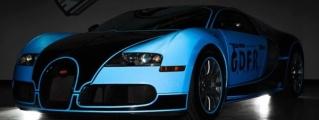 Flo Rida's Tron-Bugatti by Metro Wrapz