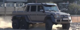 Mercedes G63 AMG 6x6 Is Good for Storming Beaches