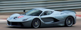 Grey LaFerrari in Action on Road and Track