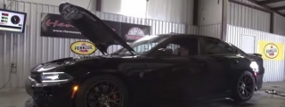 850-hp Hennessey Dodge Charger Hellcat on Dyno