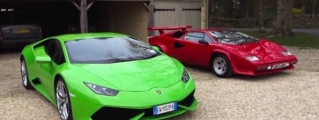 Huracan Meets the Countach at Harry's Garage