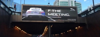Jaguar F-Type Coupe Gets Rude Advertisement in UK