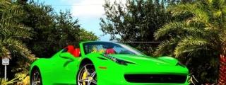 Metro Wrapz Lime Green Ferrari 458 Looks Yummy!