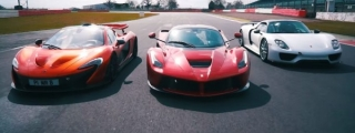 McLaren P1, LaFerrari and Porsche 918 Meet at Silverstone