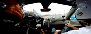Onboard McLaren P1 at Donington Race Track