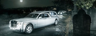 Rolls Royce Phantom Hearse for a Deluxe Halloween!