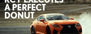 Solar Flare Lexus RC F Does Monster Donuts in Clever Ad