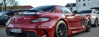 Juicy Red Mercedes SLS Black Series Spotted in Netherlands