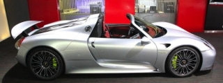 Silver Porsche 918 Spyder at Alain Class Motors
