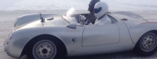 Stig and Darth Vader Spotted Cruising in a Porsche Spyder!