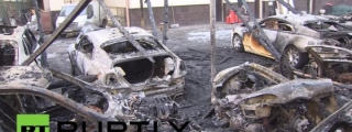 Fire Destroys $3.3 Million Worth of Supercars in Moscow