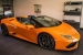 Orange Huracan Spyder Shows Up in Madrid