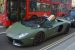 Londoner Uses Matte Green Aventador as Delivery Car!