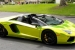 Lamborghini Aventador Roadster in Tennis Ball Yellow Chrome!