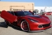 Custom Corvette Z06 in Satin Red Chrome