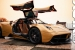 Up Close and Personal with a Gold Pagani Huayra