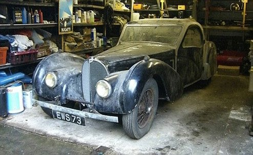 1937 bugatti type 57s atalante at 1937 Bugatti Type 57S Atalante   The diamond in the dirt!