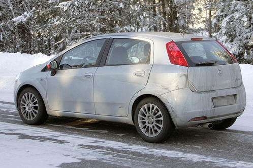 2010 fiat grande punto facelift spyshots. Black Bedroom Furniture Sets. Home Design Ideas