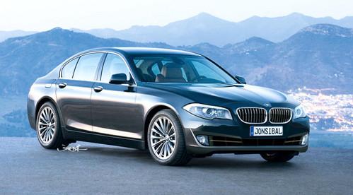 rendering: 2010 bmw 5-series sedan