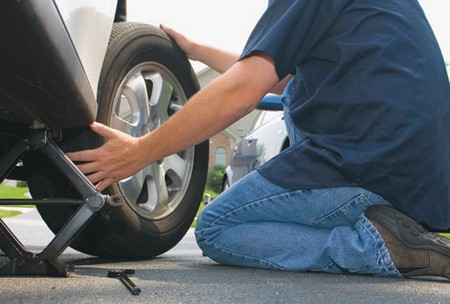 How to Change Car Tire at How to Change a Car Tire