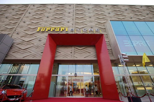 In Dubai: World's largest Ferrari store opening ceremony