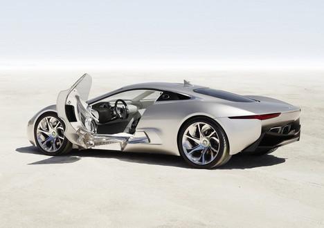 Jaguar C X75 6 at Jaguar CX 75 Hybrid Supercar Production Confirmed