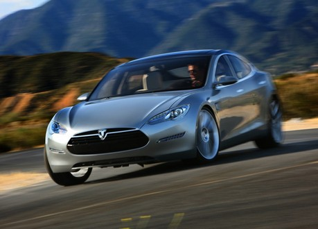 tesla model s at Tesla To Become Profitable Using Cheap Batteries