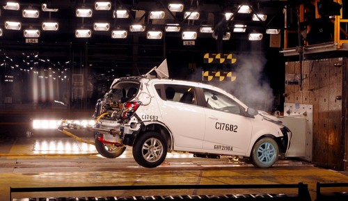 sonic crash test at 2012 Chevrolet Sonic Named Top Safety Pick