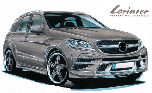 lorinser m class at Lorinser Previews Kit For New Mercedes ML
