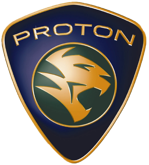 Proton Logo at Malaysian Government Sells Stake in Proton Cars