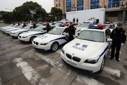 shangai police bmw at Communist China Loves Luxury Cars