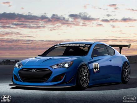 Austech Hyundai Genesis Coupe Gt Race Car