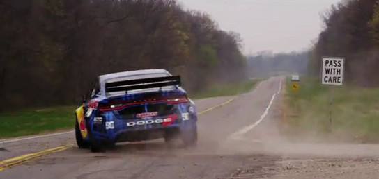 Dodge Dart Rally Car In Action - Pastrana at Wheel