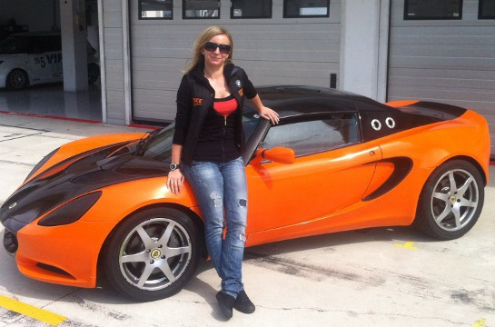 Anett Kovary before first racing practice 2012 at Lotus Ladies Cup: Interview with Anett Kõváry
