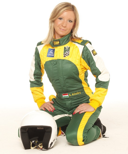 Anett wearing racing suit at Lotus Ladies Cup: Interview with Anett Kõváry