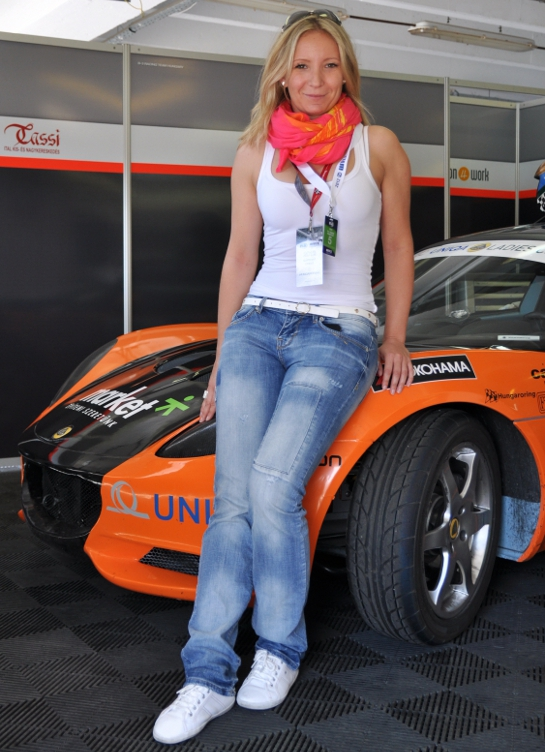 Anett with her Zengo colored car at Lotus Ladies Cup: Interview with Anett Kõváry